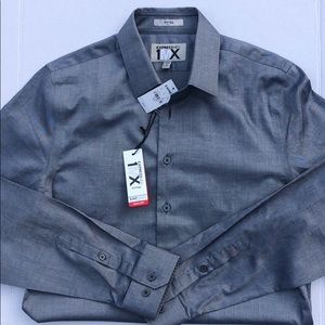NWT Express 1MX Fitted Quickdry Black Mens Shirt